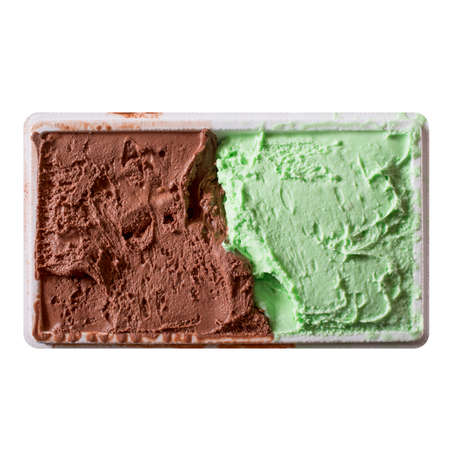peppermint: Chocolate and peppermint icecream food