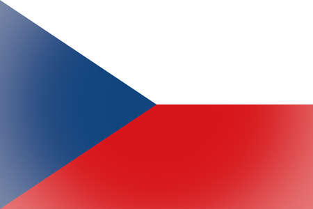 ceska: Vignetted flag of the Czech Republic