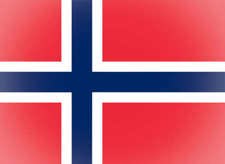 norwegian: Vignetted Norwegian flag of Norway