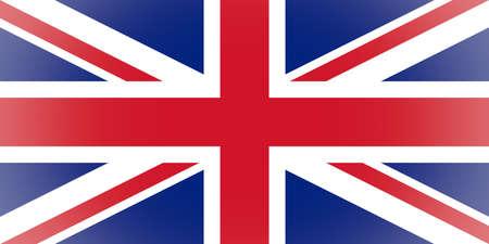 bandera uk: Vignetted bandera británica del Reino Unido conocido como Union Jack