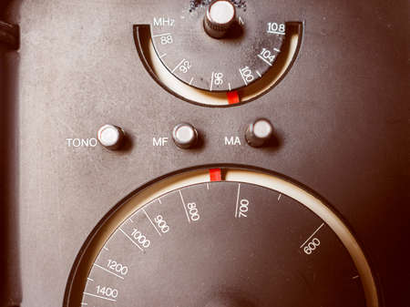 tuner: Vintage looking Vintage AM and FM radio tuner Stock Photo