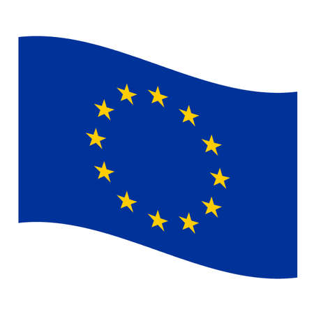 rippled: Rippled flag of Europe illustration