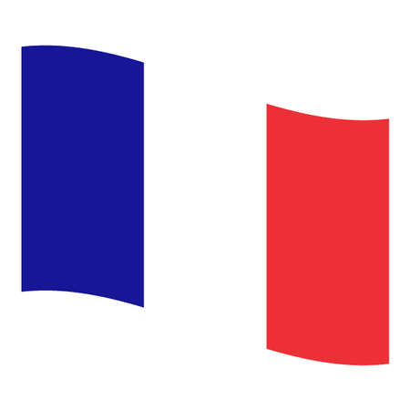 rippled: Rippled national flag of France, Europe