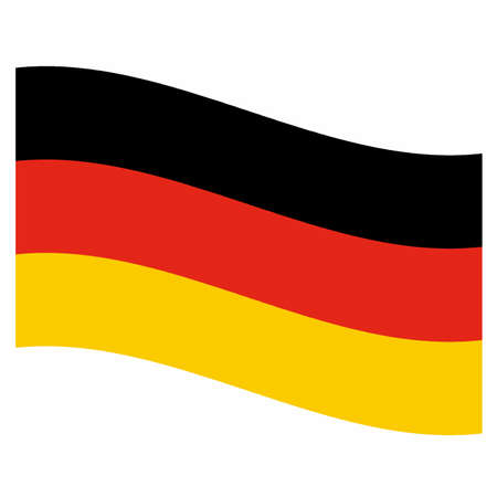 rippled: Rippled national flag of Germany, Europe illustration