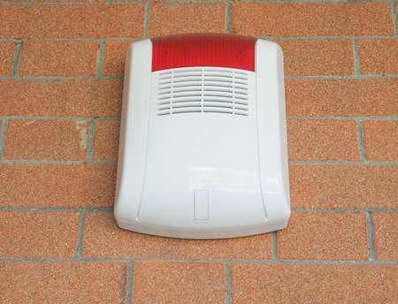 flash of light: Alarm siren and flash light against burglary Stock Photo