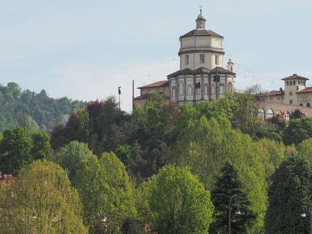 monte: Church of Monte Dei Cappuccini Turin Italy