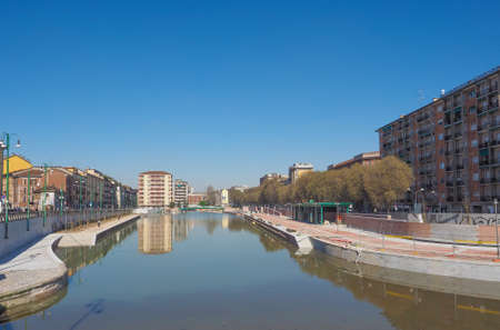 known: MILAN, ITALY - MARCH 28, 2015: The City harbor known as La Darsena is being redeveloped as part of the Expo Milano 2015 international exhibition
