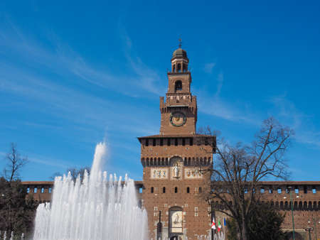 sforzesco: Castello Sforzesco meaning Sforza Castle in Milan Italy