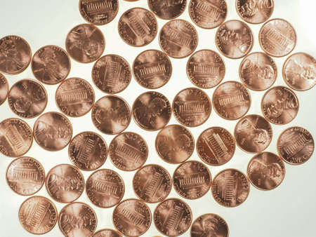 cent: Dollar coins 1 cent wheat penny cent currency of the United States useful as a background