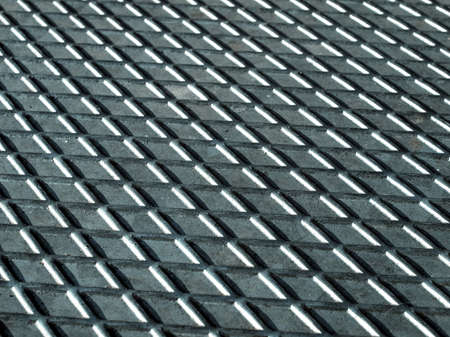 diamond plate: Diamond steel plate industrial iron metal background - cool cold tone