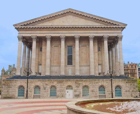 midlands: Birmingham Town Hall concert hall venue built in 1834 in Victoria Square, Birmingham, England, UK