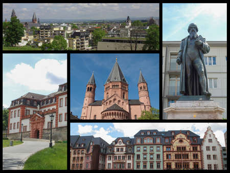 MAINZ: Landmarks collage of the city of Mainz, Germany Stock Photo