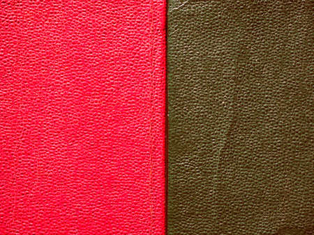 leatherette: Vintage looking Red and green leatherette texture useful as a background Stock Photo