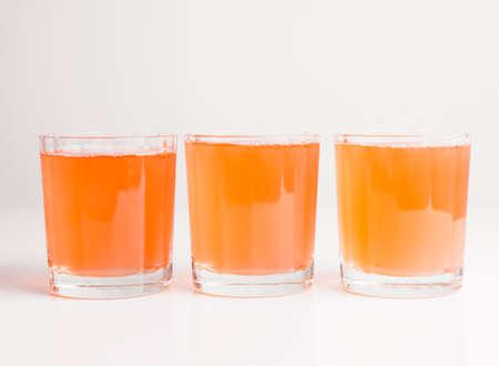 continental: Orange juice on continental breakfast table
