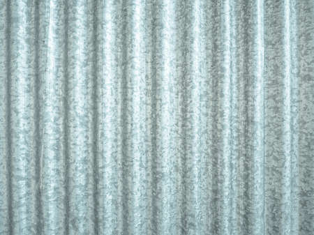 Corrugated steel plate useful as a background - cool cold tone