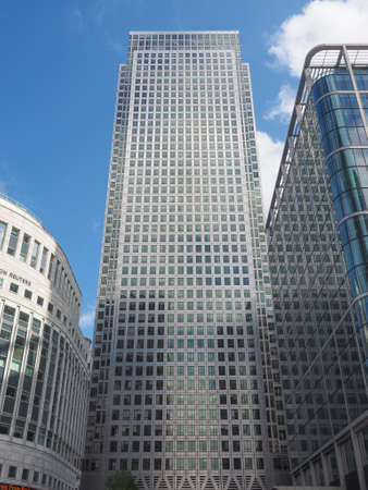 business centre: LONDON, UK - JUNE 10, 2015: The Canary Wharf business centre is the largest business district in the United Kingdom