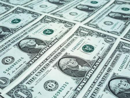 dollar: Dollaro banconote 1 dollaro valuta degli Stati Uniti utile come sfondo