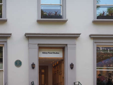 the beatles: LONDON, UK - JUNE 10, 2015: Abbey Road recording studios made famous by the 1969 Beatles album