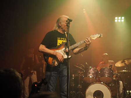 legendary: LONDON, UK - JUNE 12, 2015: Legendary German krautrock band Amon Duul II in concert Editorial