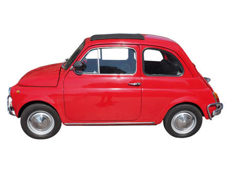 manufactured: TURIN, ITALY - JUNE 21, 2015: Vintage Fiat 500 car manufactured in Italy from 1957 to 1975 Editorial