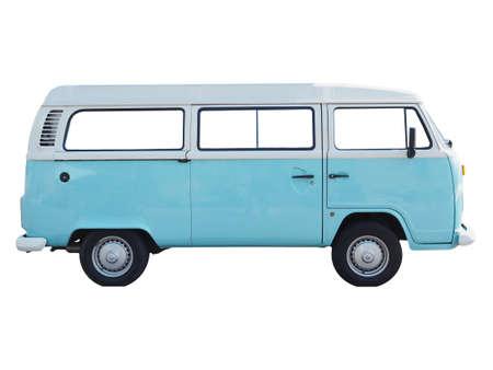 campervan: BERLIN, GERMANY - CIRCA JUNE 2015: Vintage Volkswagen Type 2 campervan made in Germany since 1957