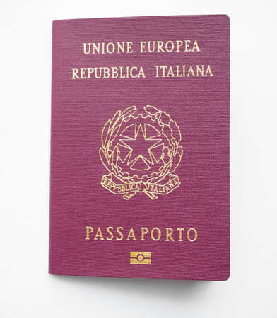 recorded: ROME, ITALY - JUNE 3, 2015: Italian passport with epassport chip secure and convenient alternative to the conventional border control with facial recognition technology used to compare face to the photograph recorded on the chip