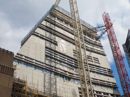 powerstation: LONDON, UK - JUNE 10, 2015: Extension to the Tate Modern art gallery in South Bank powerstation designed by Swiss architects Herzog and De Meuron