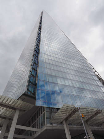 shard: LONDON, UK - JUNE 10, 2015: The Shard skyscraper designed by Italian architect Renzo Piano is the highest building in town