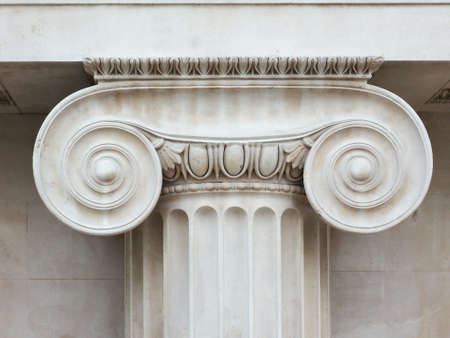 ionic: Architectural detail of an ancient Ionic capital