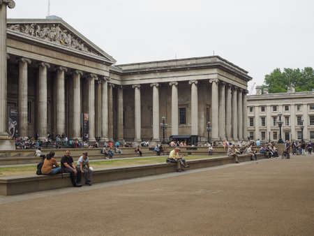 british museum: LONDON, UK - JUNE 12, 2015: The British Museum