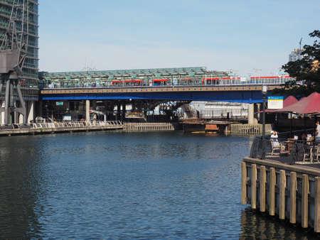docklands: LONDON, UK - JUNE 11, 2015: West India Quay in Docklands