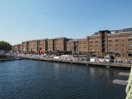 english west country: LONDON, UK - JUNE 11, 2015: West India Quay in Docklands