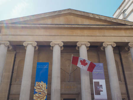 commission: LONDON, UK - JUNE 11, 2015: Canada House in Trafalgar Square hosts the High Commission of Canada in the United Kingdom Editorial