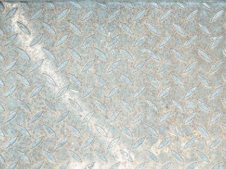 metal sheet: Diamond steel metal sheet useful as background - cool cold tone Stock Photo