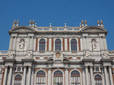 TURIN, ITALY - AUGUST 05, 2015: The National Museum of the Italian Risorgimento (Museo nazionale del Risorgimento italiano) is housed in Palazzo Carignano seat of the first Italian parliament