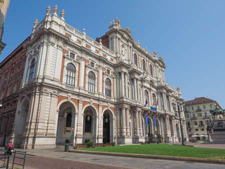 risorgimento: TURIN, ITALY - AUGUST 05, 2015: The National Museum of the Italian Risorgimento (Museo nazionale del Risorgimento italiano) is housed in Palazzo Carignano seat of the first Italian parliament