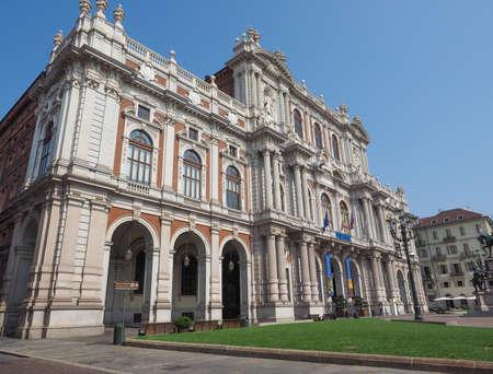 risorgimento: TURIN, ITALY - AUGUST 05, 2015: The National Museum of the Italian Risorgimento (Museo nazionale del Risorgimento italiano) is housed in Palazzo Carignano seat of the first Italian parliament