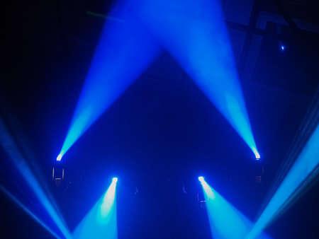 spot: Blue spot lights at a concert Stock Photo