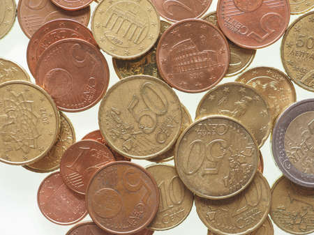 eec: Euro coins currency of the European Union