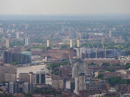 powerstation: Aerial view of Battersea Power Station of London, UK