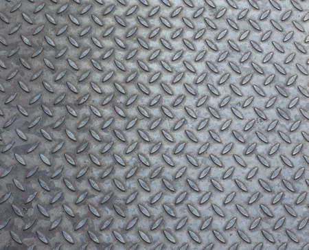 texture backgrounds: Grey steel diamond plate useful as a background Stock Photo
