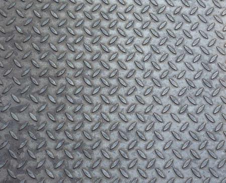 Grey steel diamond plate useful as a background Stock Photo