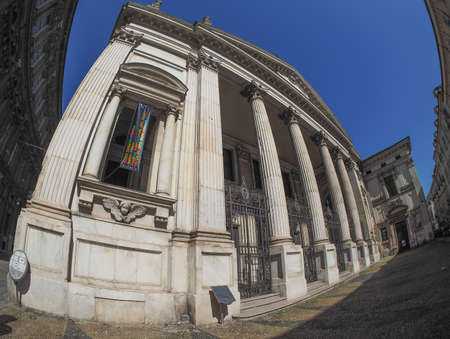 chiesa: TURIN, ITALY - CIRCA SEPTEMBER, 2015: Chiesa di San Filippo Neri church seen with fisheye lens