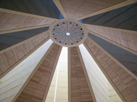 mario: TURIN, ITALY - CIRCA MARCH, 2008: The Chiesa del Santo Volto Church was designed by swiss architect Mario Botta