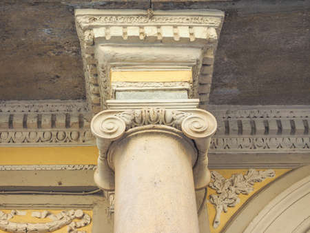ionic: Detail of ancient capital of the Ionic order