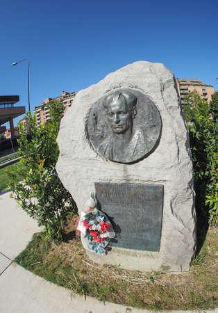 partisan: TURIN, ITALY - CIRCA SEPTEMBER, 2015: Nicola Grosa partisan memorial monument by sculptor Mastroianni