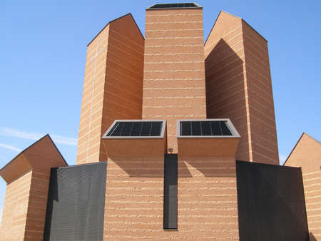chiesa: TURIN, ITALY - CIRCA MARCH, 2008: The Chiesa del Santo Volto Church was designed by swiss architect Mario Botta