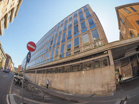 verdi: TURIN, ITALY - CIRCA SEPTEMBER, 2015: The RAI palace in Via Verdi is the Italian state TV production centre and broadcasting house Editorial