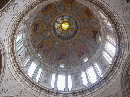 dom: BERLIN, GERMANY - CIRCA APRIL, 2010: Interior view of Berliner Dom meaning Berlin Cathedral church