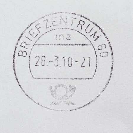 cancelled stamp: Germa postage meter used for stamp cancellation on letters